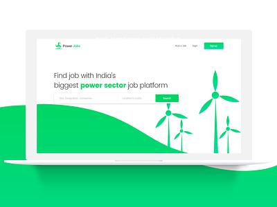 Power Sector Job Portal ux ui design ui design user interface design inspiration inspiration ui ux design job portal web deisgn ui-design