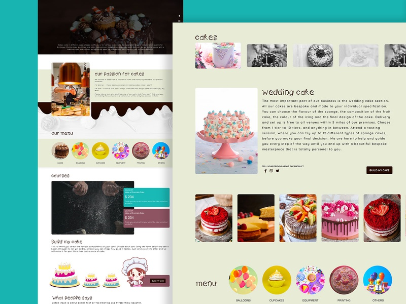Cake Shop Website responsive website design responsive desktop interface minimal concept uidesigner uiux website concept ecomemrnce cake cakeshop website design website