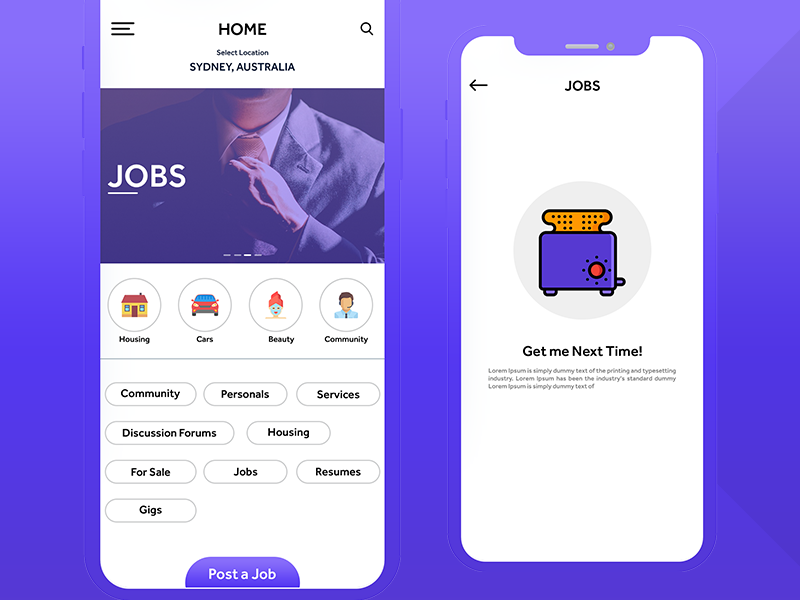 craigslist App User Interface | ios | Android by Mukesh Prajapati on