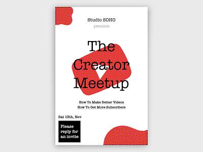 Creator Meetup Poster youtube poster design poster branding design