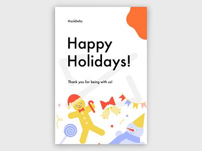Happy Holidays Poster holiday design holidays minimal poster design design branding