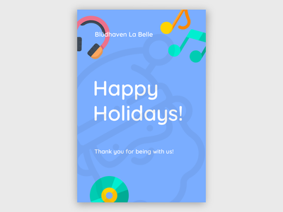 Happy Holidays Music Poster holidays holiday design minimal design poster design branding