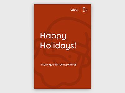 Happy Holidays Minimal Poster holidays poster minimal holiday design design poster design branding
