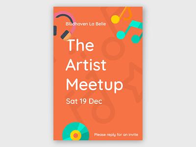 Music Artist Meetup Poster event music art minimal poster design design branding