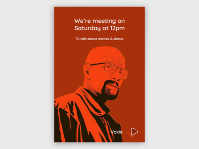 Movie Meetup Poster movie poster poster minimal breaking bad movie poster design branding