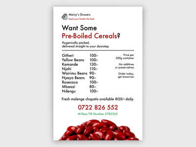 Beans Business Poster prices list prices poster design minimal poster design branding
