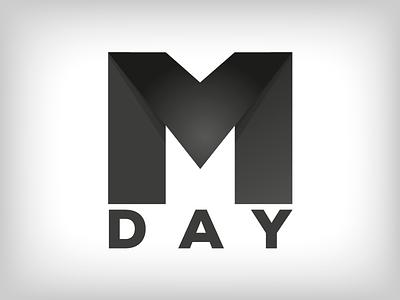 MDAY Logo logo marketing black white letter m