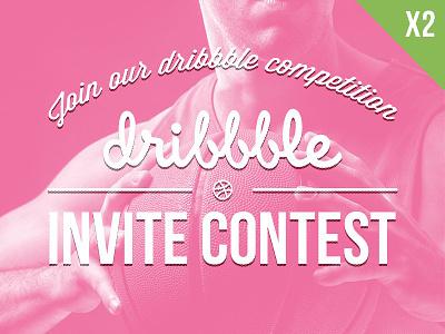 Contest Invitation Dribbble contest invitation dribbble competition pink typo