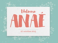 Welcome Anaé