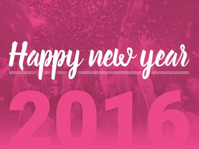 Happy New Year 2016! new year year 2016 fonts happy new year