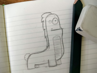 Little Monster sketch fun design illustration sketch pen  search paper monster draw