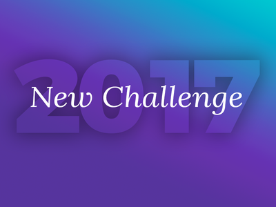 Happy New Year 2017 challenge new year font simple 2017 new year