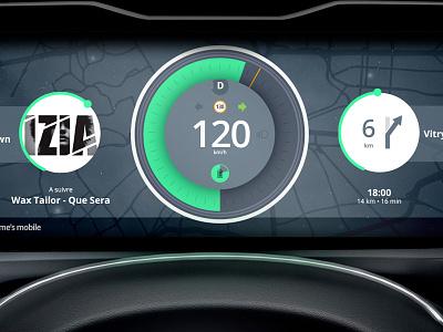 Dashboard car concept ui interface design data dashboard control center car automotive automobile