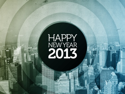 Happy New Year 2013 new year 2013 type museo