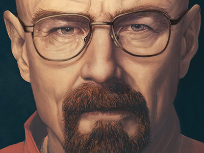 Growth, Decay and Transformation illustration digital portrait heisenberg breaking bad