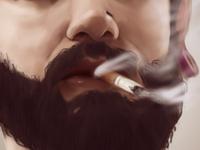 Smoking Beard beard smoke cigar alternative body mod portrait study