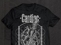 Cardiac Merch band merch cardiac rock shirt fashion illustration heart