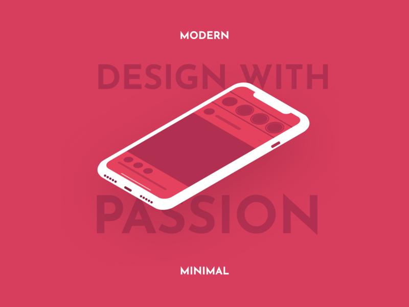 Design With Passion stories insta instagram app simplicity passion smartphone mobile iphone ios modern minimal web website branding vector typography ui design illustration