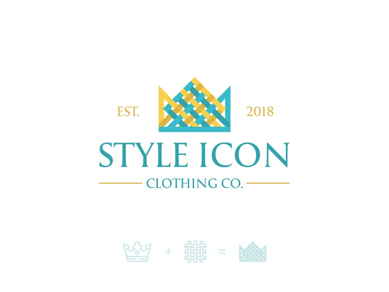 Style Icon Logo women premium luxury brand clothing company ladies conceptual woven cotton female crown modern logo creative logo textile clothing logo branding mark