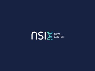 NSIX Data Center - logo technology hosting center data branding logotype logo