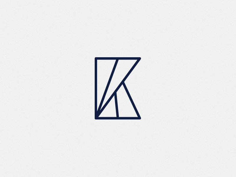 Double K logo monogram icon rejected letter k logotype logo branding