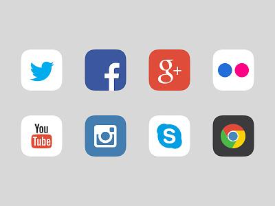 App icons iOS7 ios7 ios icons icon instagram google facebook twitter flickr skype chrome you tube