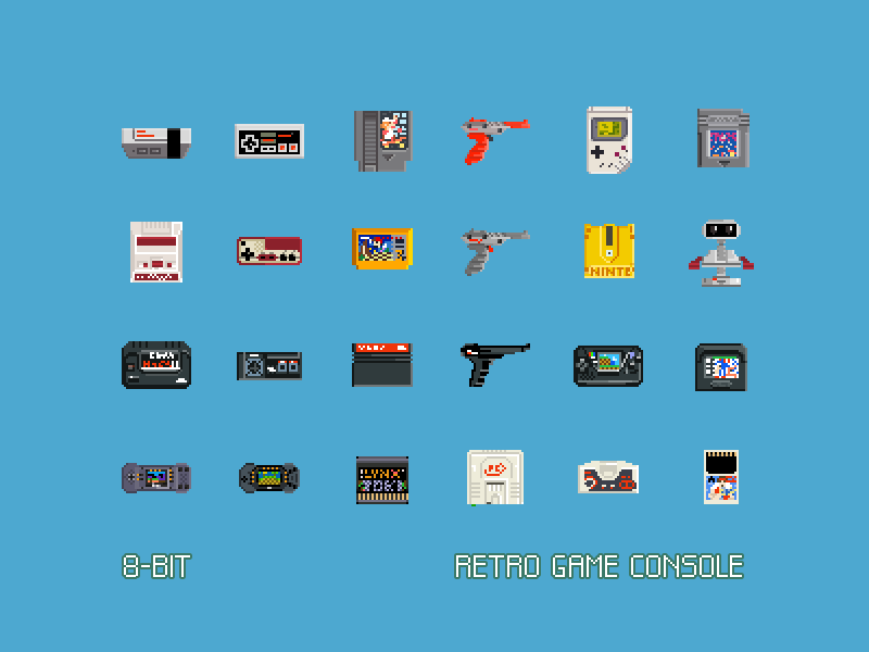 8-Bit Retro Game Console (freebie) by Claudio Gomboli on Dribbble