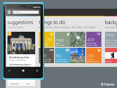 Triposo Windows Phone concept