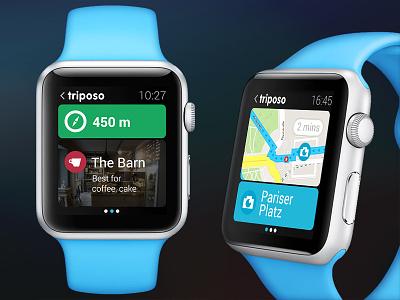 Apple Watch - Triposo triposo iwatch watch travel trip tourism explore navigation suggestion apple watch