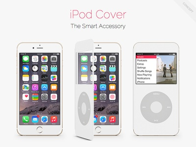 iPod Cover for iPhone ~ Concept wheel iphone 6 plus theeggs ipod ipod classic iphone iphone 6 concept apple smart cover smart cover