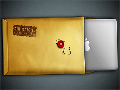 Air Mac Mail envelope mail manila envelope air mail air mac macbook air apple