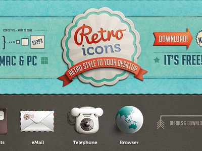 Retro Icons [free download] retina retro icon theme telephone wallpaper phone browser freebie download contacts mail android retro icons mac icon