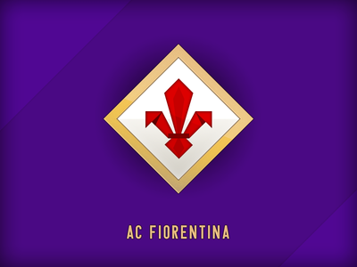 Fiorentina purple serie a lily symbol fiore team batistuta baggio football soccer calcio florence firenze flower fiorentina emblem logo viola