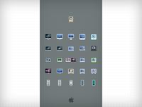 Mac Family  - 16px icons