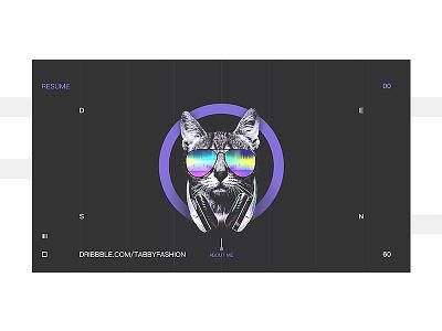 2018-03-14 cover design clean interface lion cat web ui