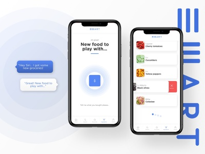 Grocery App   Updating your fridge minimal grocery design product mobile ios ux ui app food