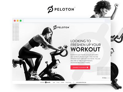 Peloton Playlist Concept clean spotify cycling minimal design peloton product web ux ui