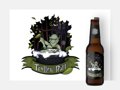 Trollen Natt - beer label