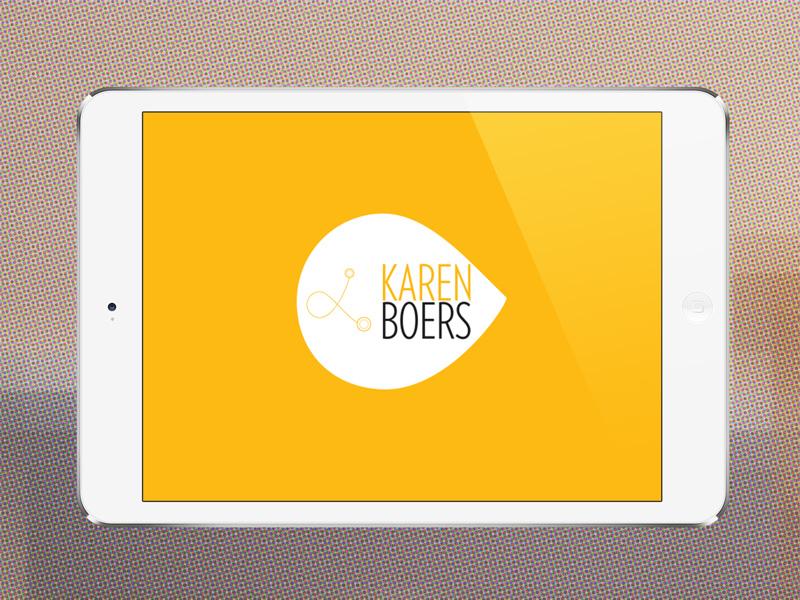 Karen Boers logo identity logo brand branding photo paper business cards ipad mini mockup yellow startups