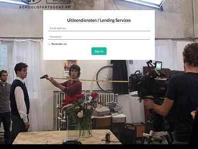 School of Arts App mockups icons photoshop desktop application lending lending services hogent art school kask school of arts html