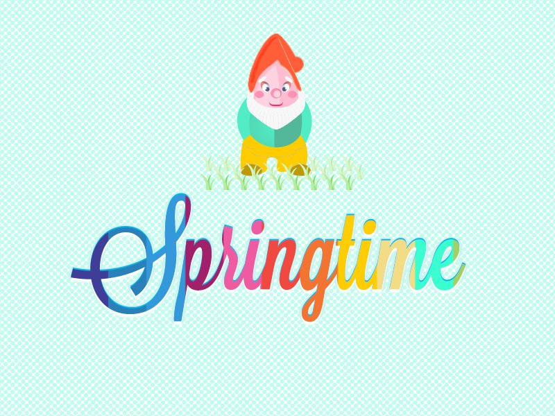 Text effects in Photoshop photoshop text effects spring gnome springtime