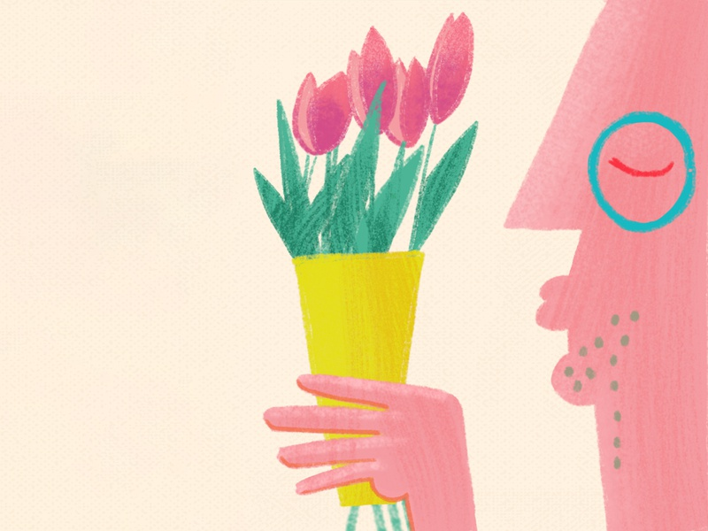 Mother's day illu colors flowers mothersday mother yellow illustration