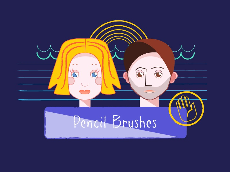 Pencil brushes pencil brush brushes artwork effect illustration illustrator adobe creative creative market custom