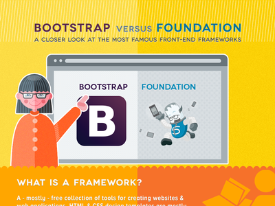 Infographic Bootstrap vs. Foundation