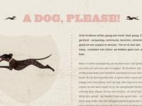 A dog, please