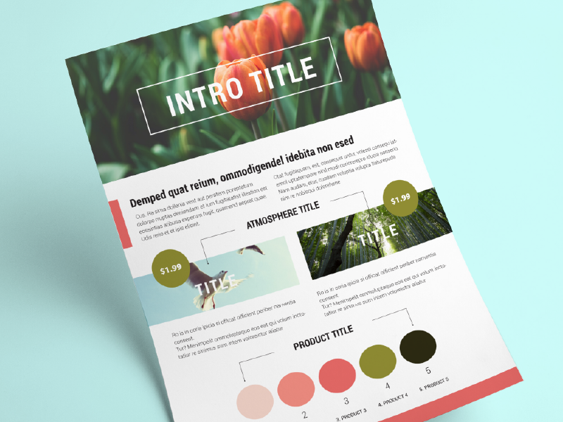 Brochure with 3 themes product marketing folder themes sale creative market template print paper adobe indesign a4 brochure
