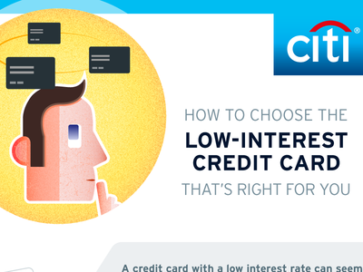 How to choose the low interest credit card that's right for you