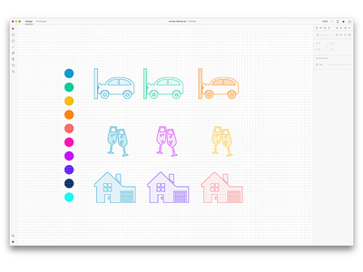 Creating insurance icons ui adobe xd colors champaign celebrating home car pixel grid pixel grid icons insurance