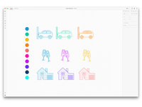 Creating insurance icons