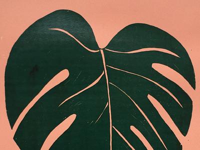 Monstera Screenprint print zeefdruk inkplate ink handdrawn plants plant monstera screenprint